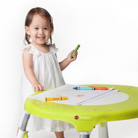 Girl at Oribel Activity Table