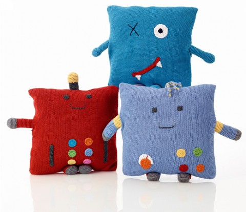 Pebble character cushions