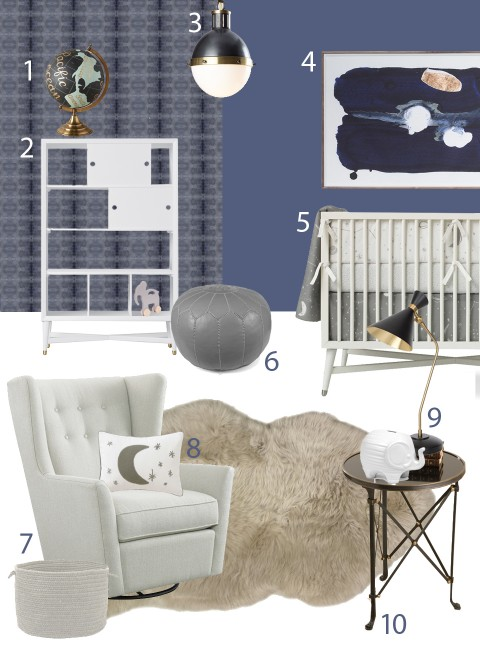 Tiffani Thiessen Holt boy blue nursery