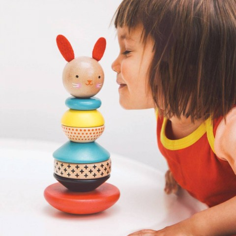 MODERN BUNNY  Wooden Stacking Toy from Petit Collage