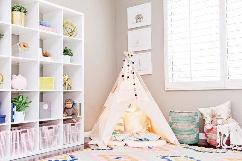 Houston's Nursery by Kailee Wright tent play corner