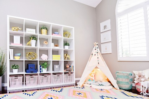 Houston's Nursery by Kailee Wright bookshelf