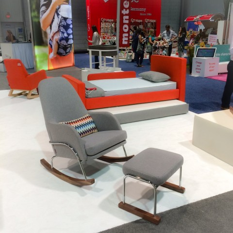 Monte at ABC Kids Expo 2015 Jackson Rocker & rocking chair «