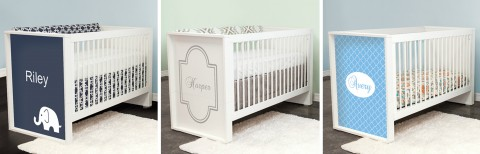 P'kolino Bianco Convertible Crib Customized