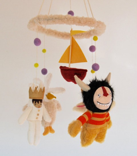 Pink Cheek Studios All Who Wander Where the WIld Things Are Mobile