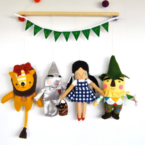 Pink Cheek Studios All Who Wander Wizard of Oz Wall Hanging