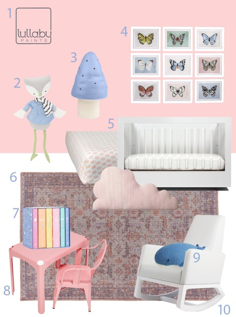 My Modern Nursery 106 pink Rose Quartz Pantone
