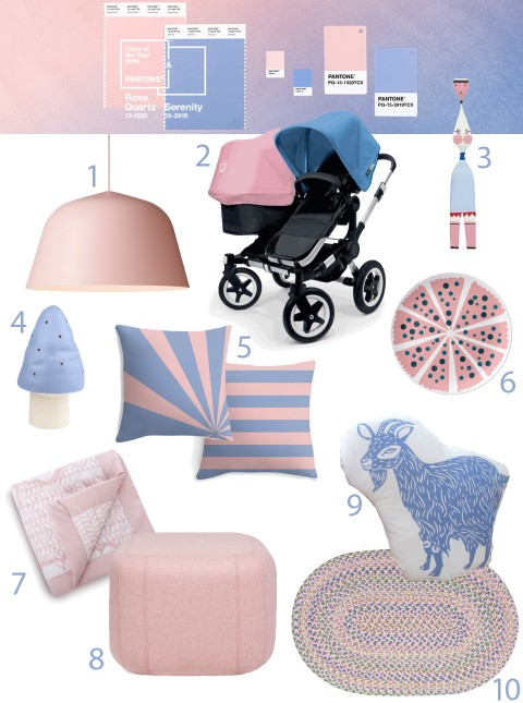 Pantone color of the year 2016 rose quartz and serenity