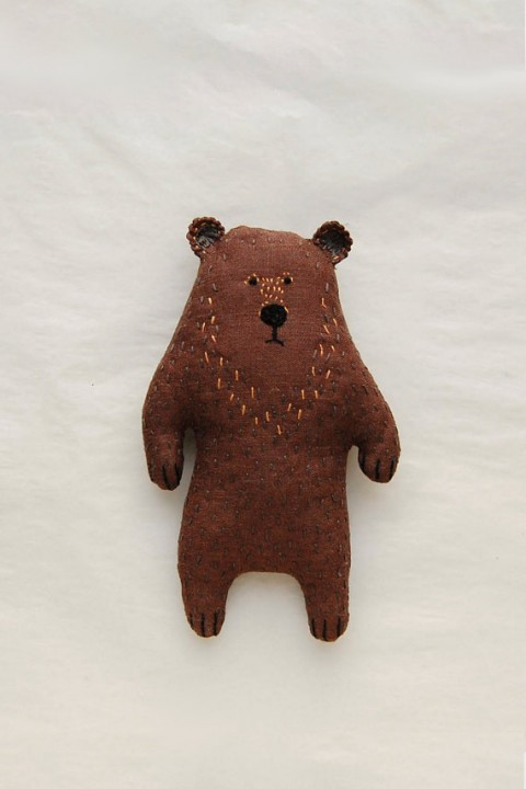 Weird Brown Stuffed Bear Plushie from Woodland Tale