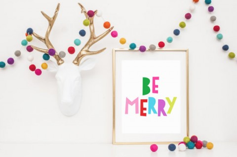 Be Merry Christmas Modern Printable