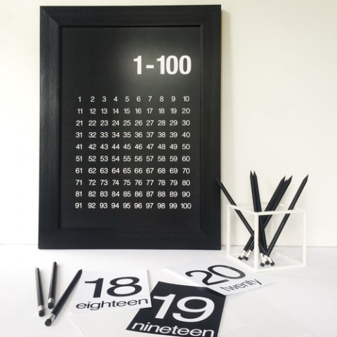 Elsewhere_Designs_Count_to_100_Poster_Black