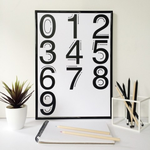 Elsewhere_Designs_Numbers_Poster_White_A3