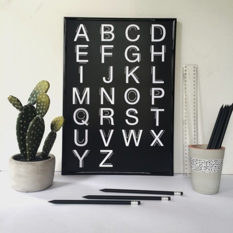 Elsewhere Designs Deconstructed Alphabet Poster
