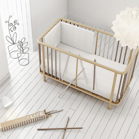 Micuna Life Crib - Natural Frame