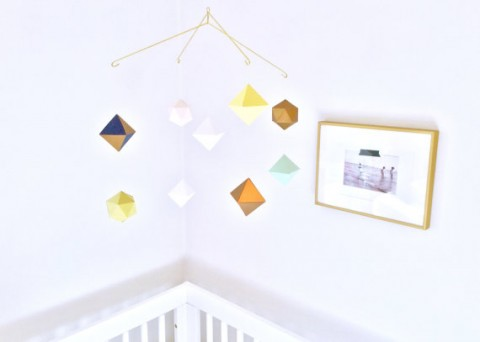 Custom Multi Layered Geometric Mobile Baby Nursery Lavender Kay Design