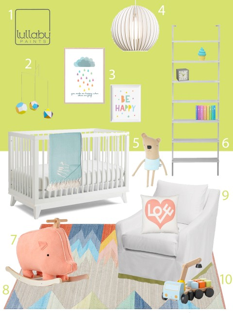 My Modern Nursery 109 Citron Green