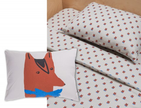 crib-sheet-pillow-fox Oeuf