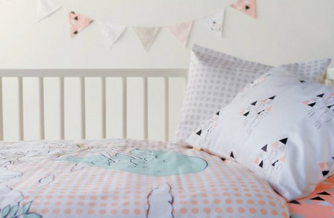 Woodland Toddler Duvet Cover - Unicorn