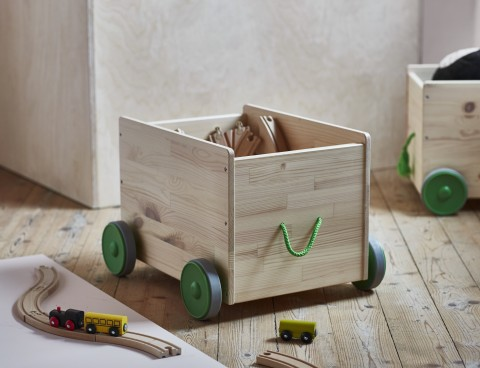 flisat toy storage with castors