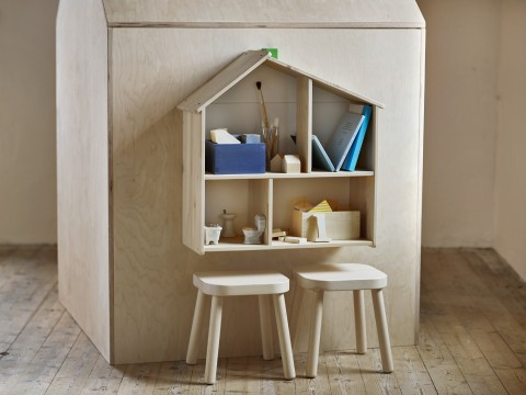 Ikea Flisat doll house and stools