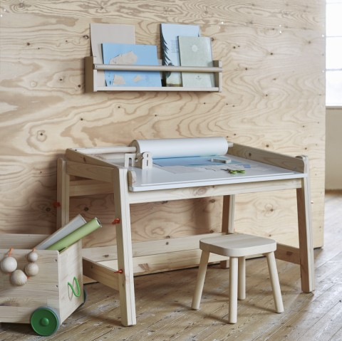Ikea Flisat children's desk and wall storage