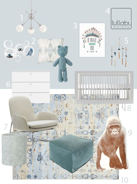 My Modern Nursery 110 Silverspoon Lullaby Paints