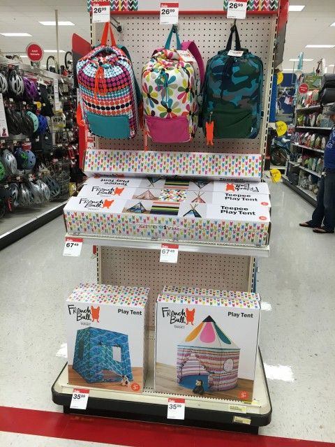 You have to get these in store but there are four tent styles and matching sleeping bags that come in a convenient backpack. & French Bull Play Tents and More at Target «