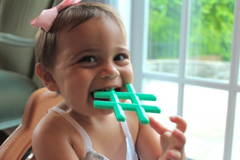 Little Standout Hashtag Teether