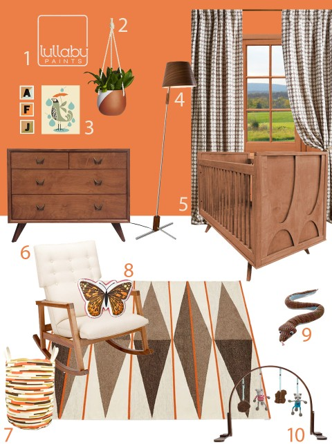 My Modern Nursery 111 Tangerine Nursery Inspiration from Lullaby Paints