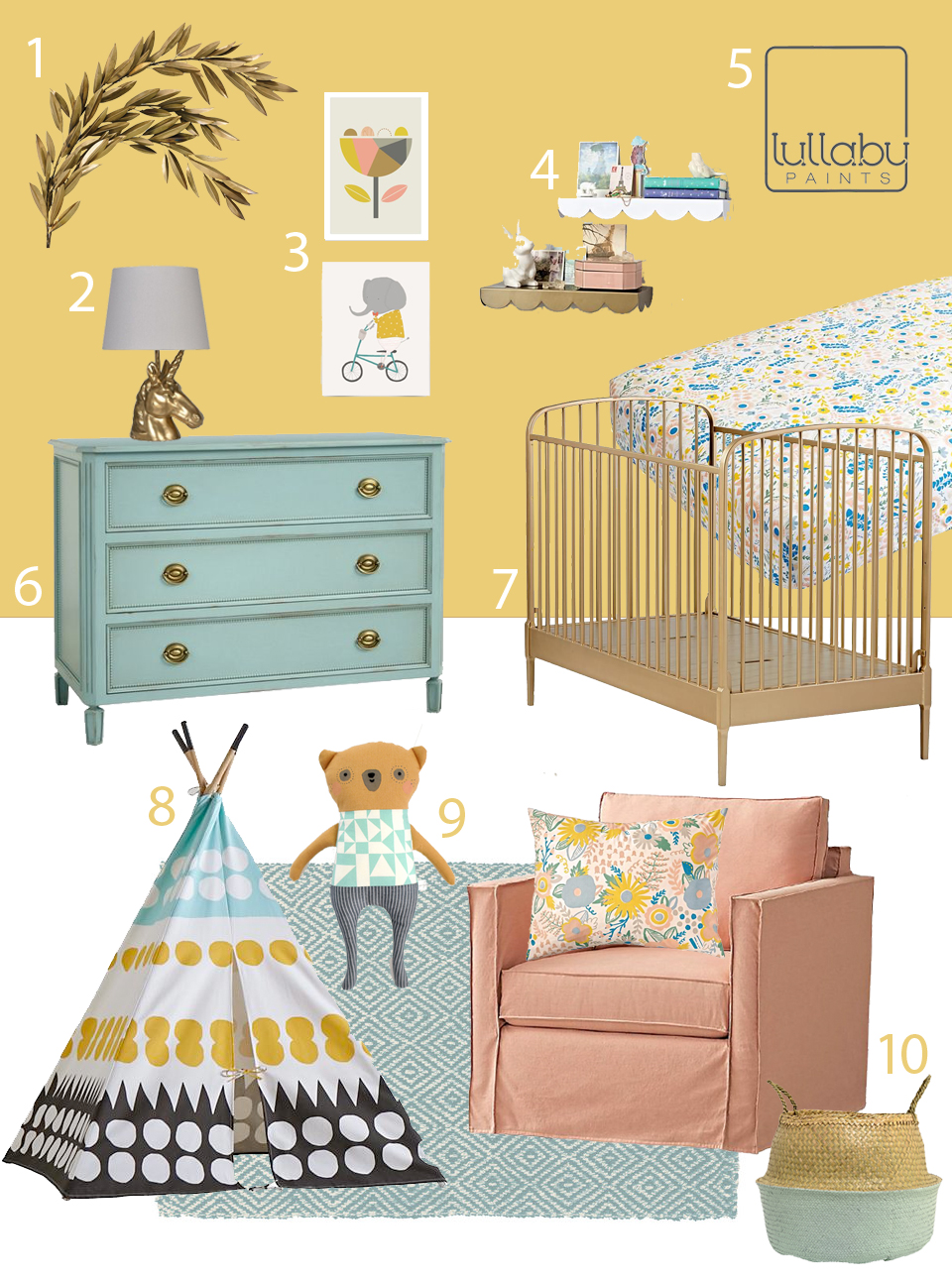 My Modern Nursery 113 Golden Glow Yellow