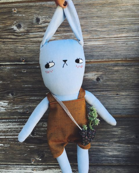 Oliver the Garden Bunny | handmade heirloom doll