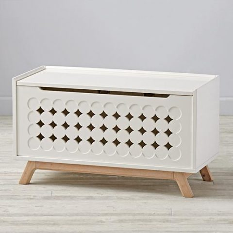 Delightful The Parkside Toy Box Comes In White And Blue And Was Designed By Royce  Nelson Exclusively For The Land Of Nod.