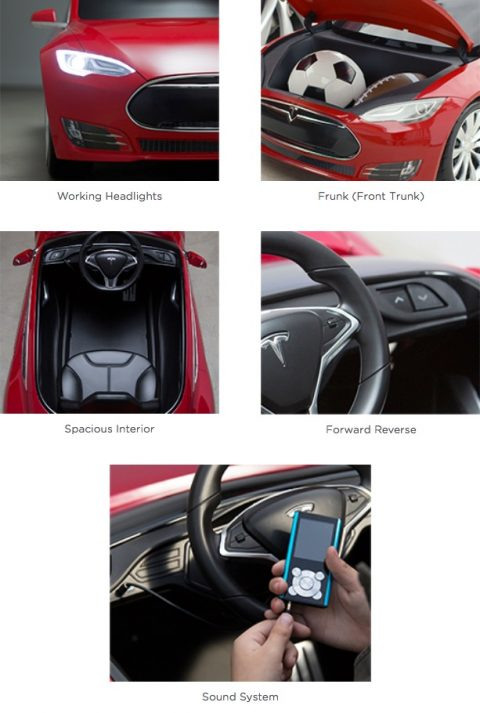 Tesla Model S for Kids features