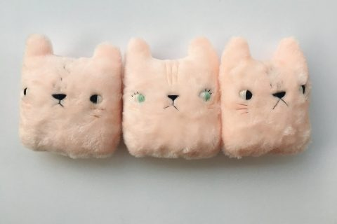 Pink and Fuzzy Valentine Bear Pillows from Sleepy King