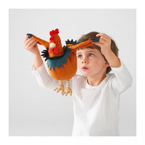 ÖNSKAD Soft toy, rooster