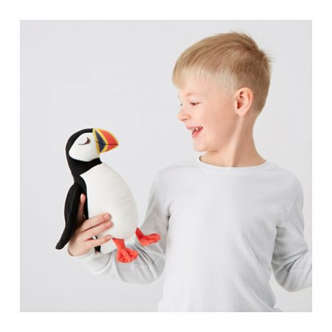 ÖNSKAD Soft toy, puffin