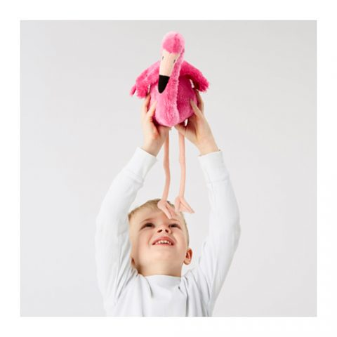 ÖNSKAD Soft toy, flamingo