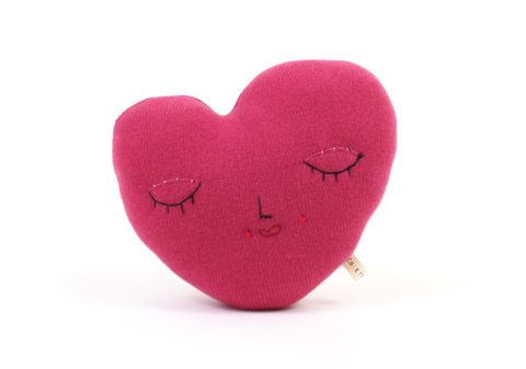 Colette Bream Heart Pillow