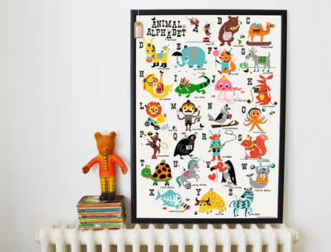 Animal Alphabet Nursery Print