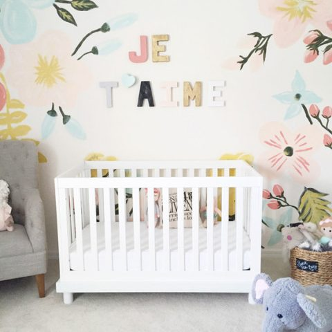 Floral pastel nursery from 100 layer cake-let